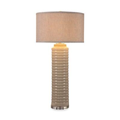 Uttermost Yana Ivory Grey Ceramic Table Lamp