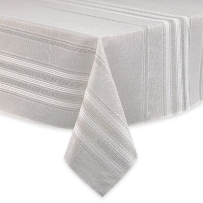 Brilliant Holiday Stripe 52 Inch Square Tablecloth