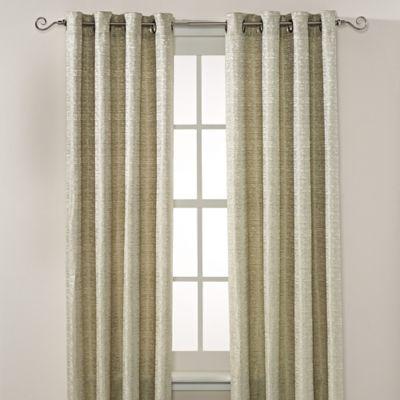 Montclair 108 Inch Grommet Top Window Curtain Panel In Green