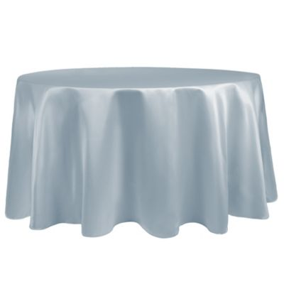 Duchess 90 Inch Round Tablecloth In Ice Blue