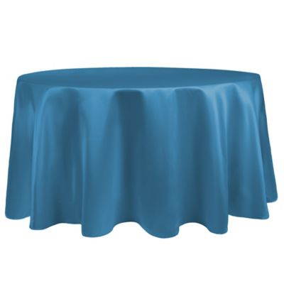 Superbe Duchess 90 Inch Round Tablecloth In Turquoise