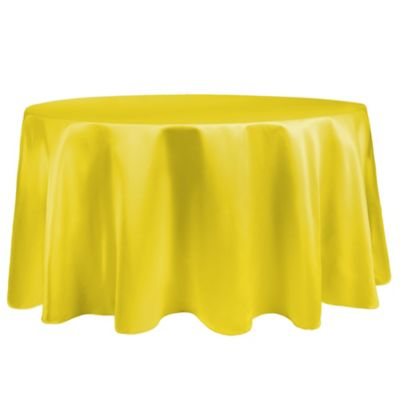 duchess 90inch round tablecloth in lemon