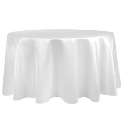 Duchess 90 Inch Round Tablecloth In White