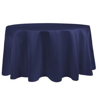Duchess 90 Inch Round Tablecloth In Navy