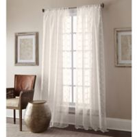 Manhattan Sheer 63-Inch Rod Pocket Window Curtain Panel in Ivory