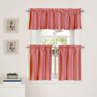 Newport 24-Inch Kitchen Window Curtain Tier Pair in Coral