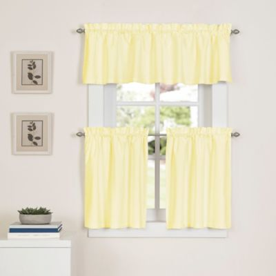 buy yellow curtains valances from bed bath beyond