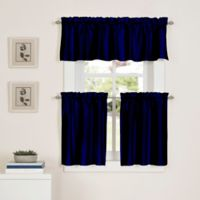 Newport 24-Inch Kitchen Window Curtain Tier Pair in Navy