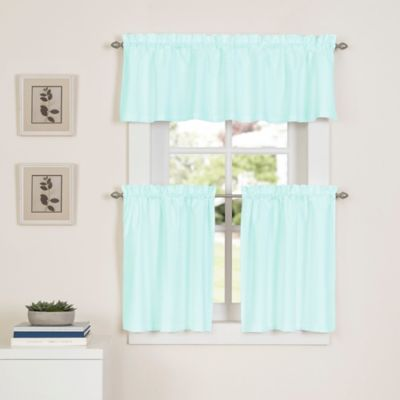 Buy green kitchen curtains valances from bed bath beyond - Mint green kitchen curtains ...