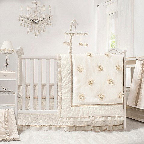 from cribs crib sets buy floral set in baby beige piece nipperland bedding