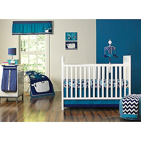 buy happy chic baby by jonathan adler party whale 4 piece crib bedding set from bed bath beyond. Black Bedroom Furniture Sets. Home Design Ideas