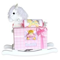 Silly Phillie® Creations Keepsake Rocking Horse Baby Gift Set in Pink