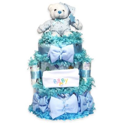 Buy baby gifts from bed bath beyond silly phillie sweet diaper cake baby gift in blue negle Choice Image