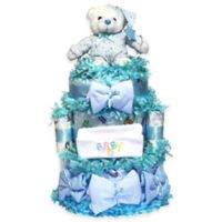 Silly Phillie™ Sweet Diaper Cake Baby Gift in Blue