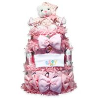 Silly Phillie™ Sweet Diaper Cake Baby Gift in Pink