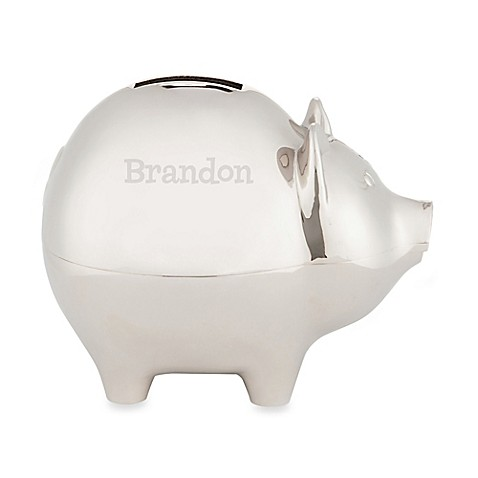 Silver Plated Piggy Bank