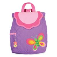 Stephen Joseph Butterfly Quilted Backpack in Purple