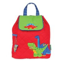 Stephen Joseph Dinosaur Quilted Backpack in Red