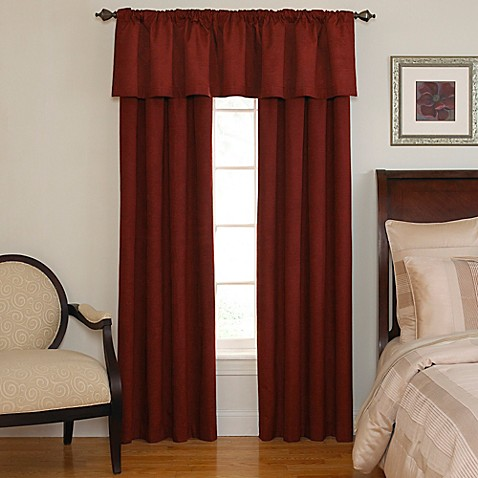 Beautyrest® Chenille Room Darkening Back Tab Window Valance in Sangria