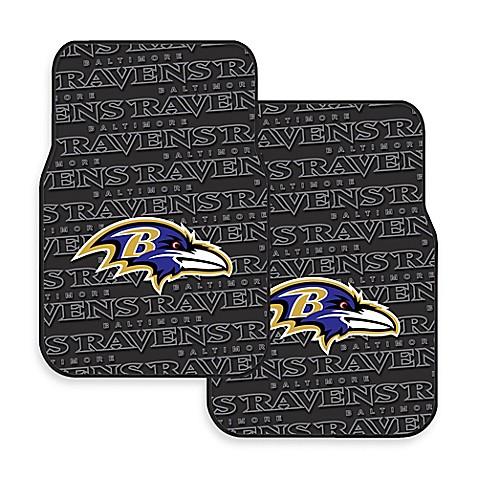 Nfl Baltimore Ravens Rubber Car Mats Set Of 2 Bed Bath
