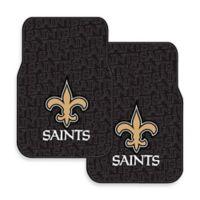 NFL New Orleans Saints Rubber Car Mats (Set of 2)