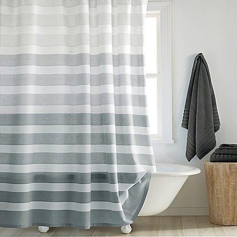 image of DKNY Highline Stripe Shower Curtain