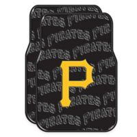MLB Pittsburgh Pirates Rubber Car Floor Mats (Set of 2)
