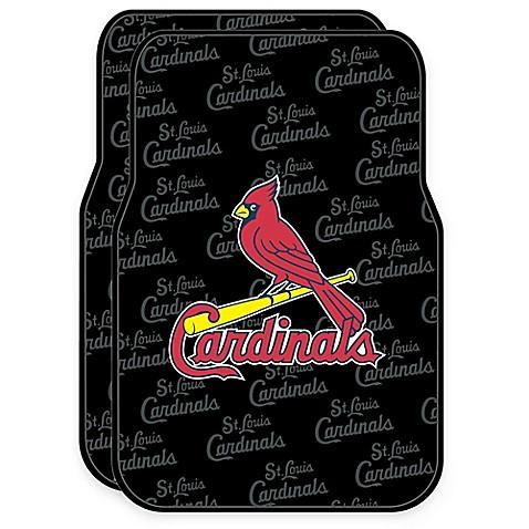 Mlb St Louis Cardinals Rubber Car Floor Mats Set Of 2