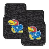 Kansas University Rubber Car Floor Mats (Set of 2)