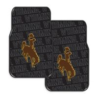 University of Wyoming Rubber Car Floor Mats (Set of 2)
