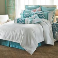 HiEnd Accents Catalina Twin Duvet Cover Set in Aqua/White