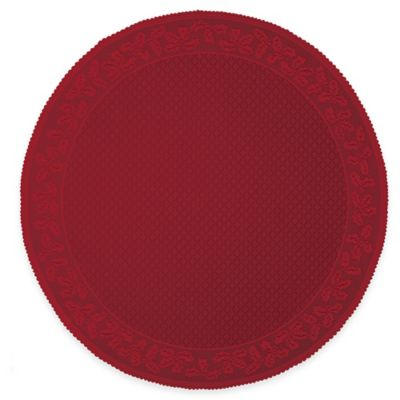 Heritage Lace® Holly Vine 70 Inch Round Tablecloth In Red