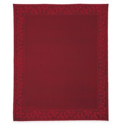 Ordinaire Heritage Lace® Holly Vine 70 Inch X 90 Inch Oblong Tablecloth In Red