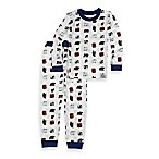 Intimo™ Size 2T 2-Piece Eric Carle Bear Long-Sleeve Pajama Set in White