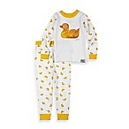 Intimo™ Size 12M 2-Piece Eric Carle Duck Long-Sleeve Pajama Set in White