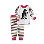 Intimo™ Size 12M 2-Piece Eric Carle Penguin Long-Sleeve Pajama Set in Pink