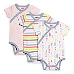 SKIP*HOP® Size 3M Modern Baby Basics ABC-123 Side-Snap Short Sleeve Bodysuits (3-Pack)