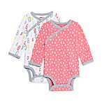 SKIP*HOP® ABC-123 Size 6M 2-Pack Side-Snap Long Sleeve Bodysuit in Pink