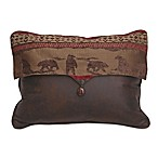 HiEnd Accents Polyester Cascade Lodge Envelope Pillow in Brown/Red