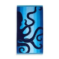Ombre Octopus Oversized Beach Towel in Blue