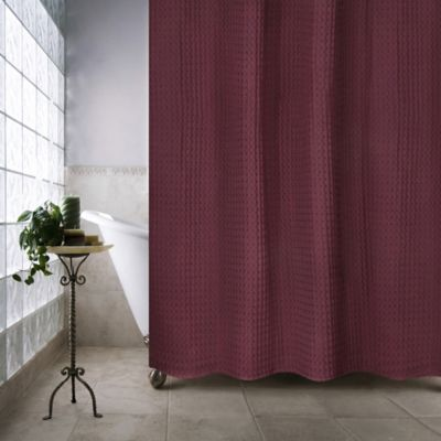 Escondido 54 Inch X 78 Stall Shower Curtain In Burgundy