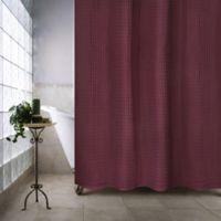 Escondido 54 Inch X 78 Stall Shower Curtain In Burgundy