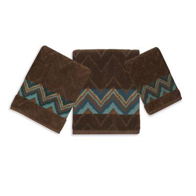 Bacova Sierra Zig Zag Hand Towel. Buy Teal Hand Towel from Bed Bath   Beyond