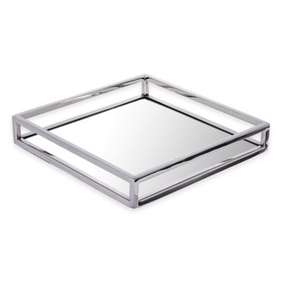 Classic Touch Small Mirrored Tray