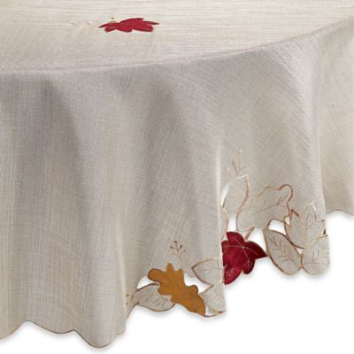 Sam Hedaya Fall Foliage 70 Inch Round Tablecloth