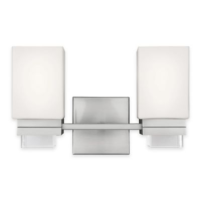 Feiss Maddison 2-Light Vanity Light in Satin Nickel - Bed Bath & Beyond