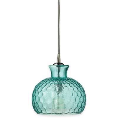 Buy aqua pendant light from bed bath beyond jamie young clark 1 light glass pendant in aqua aloadofball Choice Image