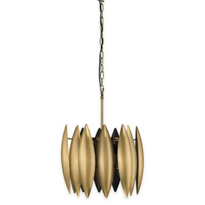 Jamie young ace 3 light large pendant lamp in brass