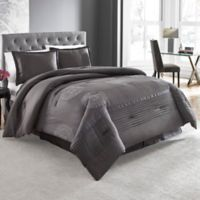 Lanco Huntley 4-Piece King Comforter Set in Charcoal