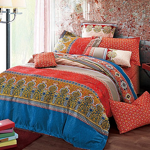 Sherry Kline Moroccan Reversible Duvet Cover Set Bed